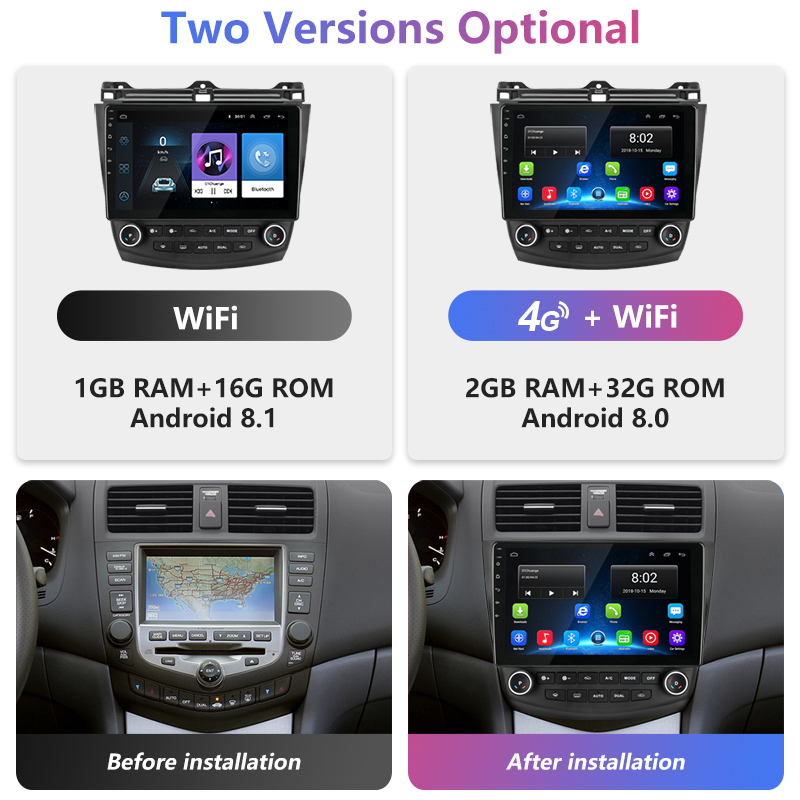 10 quot 2 5D IPS Android Car Radio 2G 32 Multimedia Player Dvd for Honda Accord 7 2003 2008 Navigation HiFi Auto Audio Car Stereo in Car Multimedia Player from Automobiles amp Motorcycles