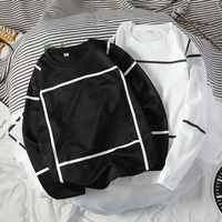 2019 automne nouveau T-Shirt hommes à manches longues coton hauts à la mode
