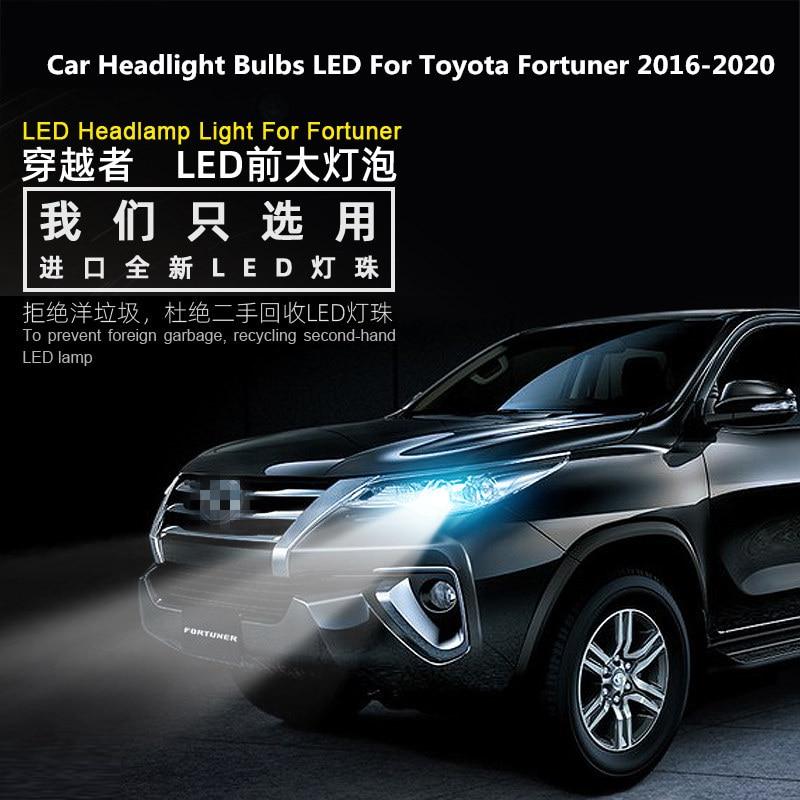 For Toyota Fortuner 2016-2020 Headlight Bulbs LED 12V 90W 6000K 360 Degree Fortuner lights modified LED 2PCS
