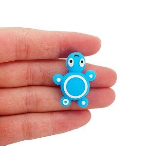 Image 3 - Chenkai 50 Stuks Siliconen Schildpad Kralen Baby Dier Vorm Van Mini Schildpad Tandjes Bpa Gratis Diy Zuigeling Verpleging Speenketting clips
