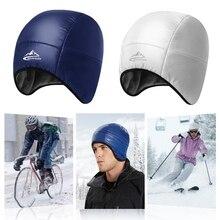 Мужская и женская зимняя уличная водонепроницаемая ветрозащитная шапка с ушками, теплая флисовая пуховая шапочка для велоспорта, лыжного туризма, кемпинга