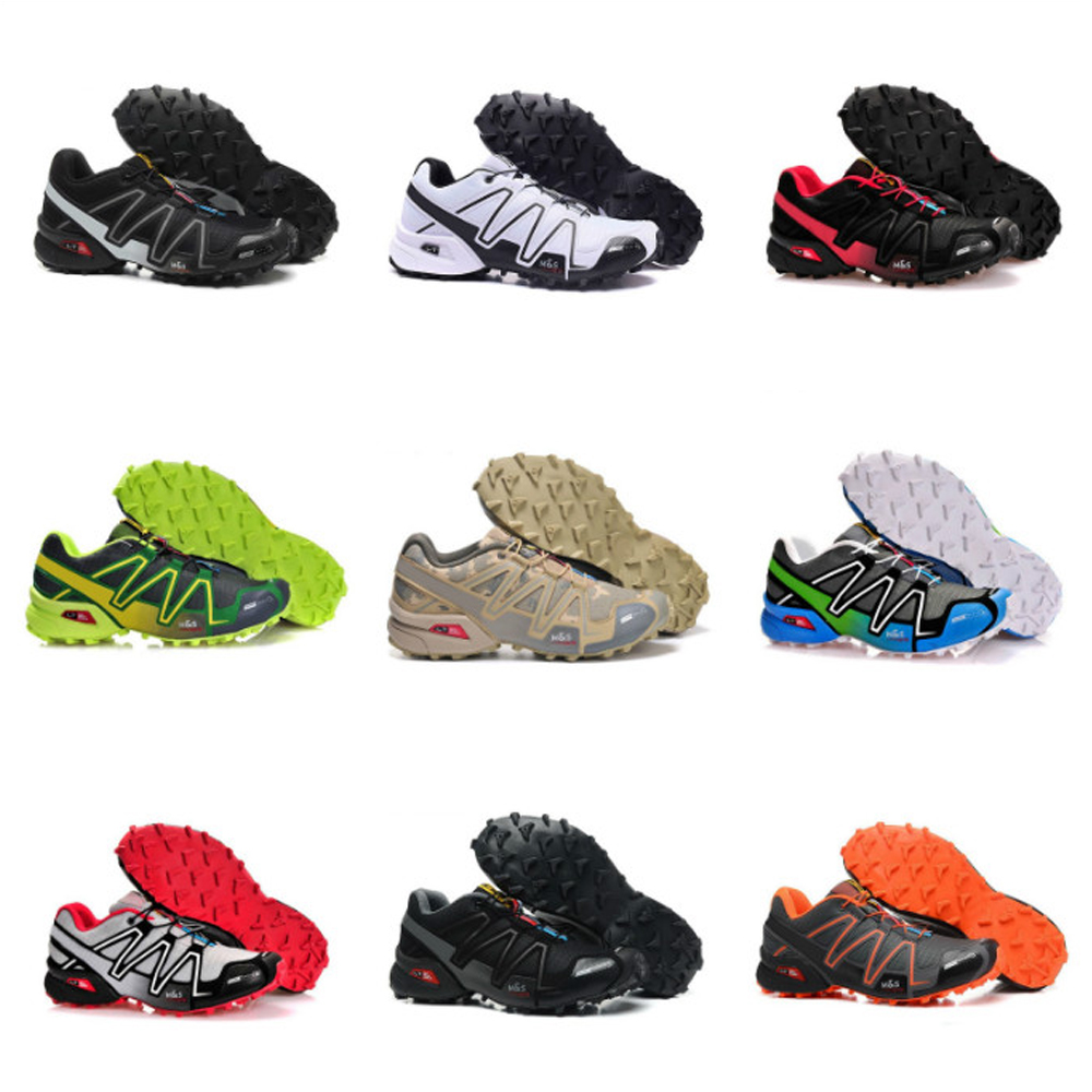 2020 New Speed Cross 34 CS Casual Shoes Men's Black And White Breathable Outdoor Shoes Size 36-46