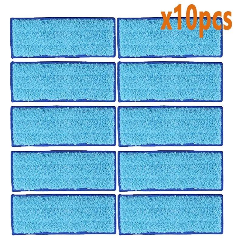 Lavável molhado esfregando almofadas almofadas úmidas almofada seca pano para irobot braava jet 240 241 kit de reposição peças reposição mais limpas