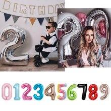 Ballon digital de 16 32 40 pouces, fournitures pour fête d'anniversaire, de mariage pour enfants, décorations pour baby shower, happy newyear2021