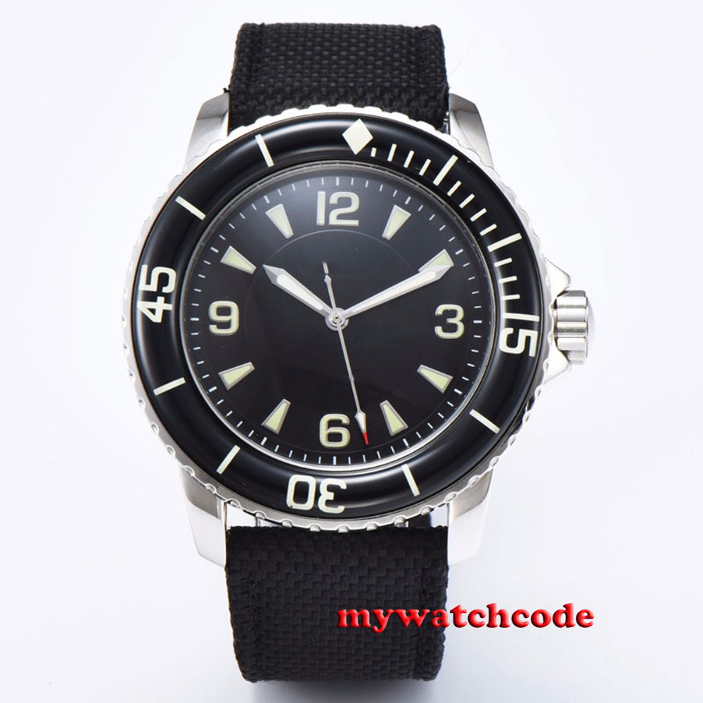 45mm CORGEUT green sterile dial black sterile dial super luminous marks miyota 8215 Automatic mens watch