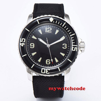 цена 45mm CORGEUT green sterile dial black sterile dial super luminous marks miyota 8215 Automatic mens watch онлайн в 2017 году