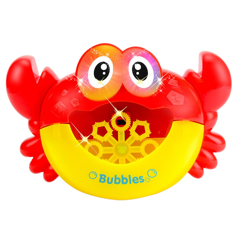 Funny Music Crab Bubble Blower Machine Electric Automatic Crab Bubble Maker Kids Bath