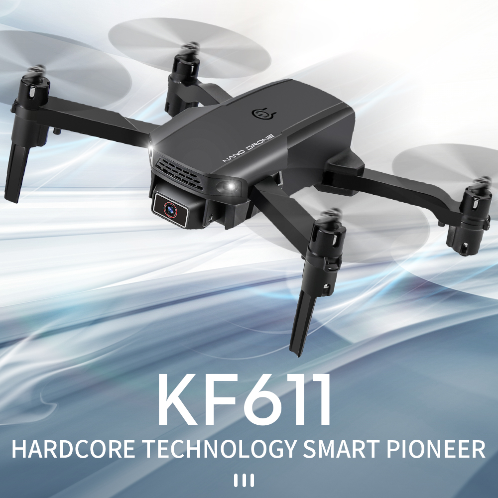 2020 NEW KF611 Drone 4k HD Wide Angle Camera 1080P WiFi fpv Drones Camera Quadcopter Height Keep Drone Camera Dron Toy 1