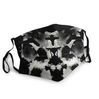 Mascarilla de Prueba de tinta no desechable Unisex, máscara de protección para la boca, respirador, mufla bucal, Watchmen King Rorschach