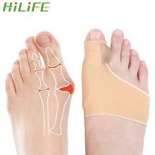 HILIFE Daumen Orthese Teller Pediküre Toe Separator Hallux Valgus Korrektur 1 Paar Bunion Corrector Socken Fuß Haarglätter