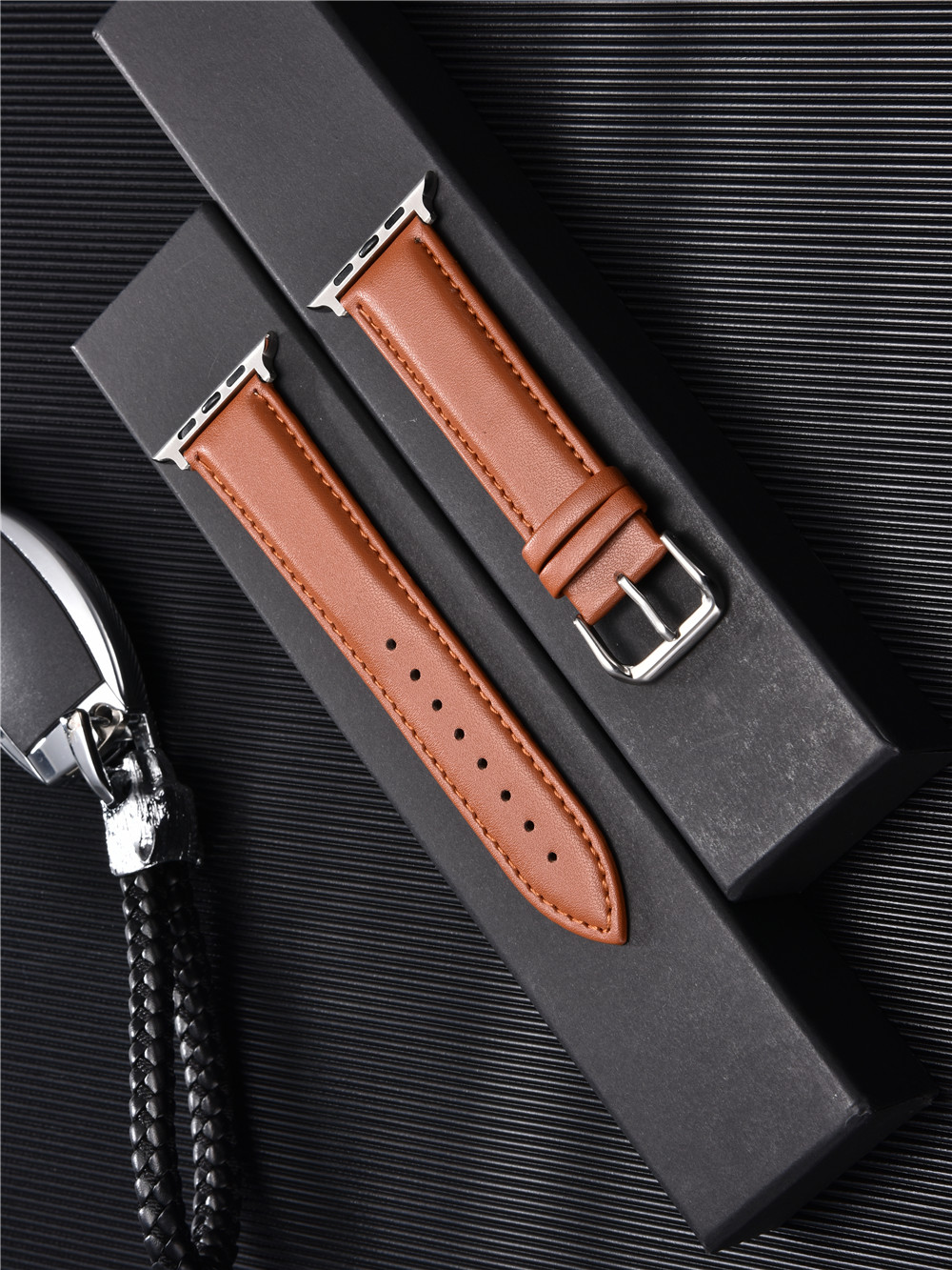 Calfskin Genuine Leather Watchband 38mm 40mm for iwatch 1 2 3 4 5 Soft Material Replace