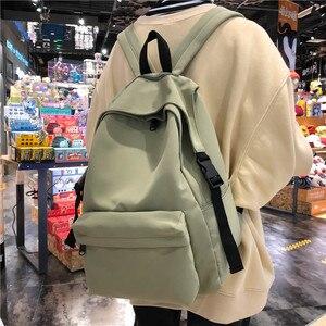 Image 3 - Nowy wodoodporny nylonowy plecak damski Japan Style solidne plecaki moda Mochila Feminina Mujer torba podróżna nastoletnia dziewczyna tornister