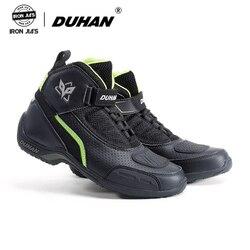 Skórzane buty motocyklowe męskie letnie oddychające buty motocyklowe Motocross Off-Road buty wyścigowe motocykl konna buty motocyklowe czarny