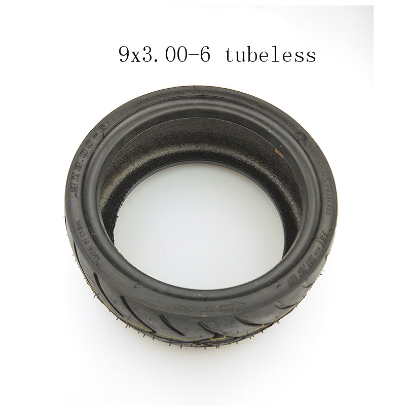 9X3.00-6 tubeless vacuum tyres 10 inch vacuum road <font><b>tires</b></font> for Electric scooter 6 inch wheel hub motor use tyres9*3.00-6 image