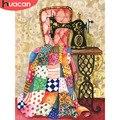 HUACAN Алмазная покраска, швейная машина, полностью квадратная дрель, художественные наборы, Новое поступление, макет, дисплей, украшение для д...