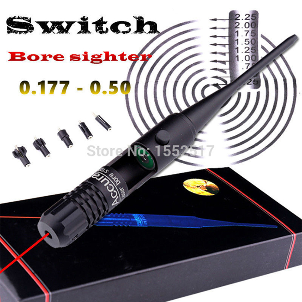 Red Dot Laser Bore Sighter BoreSighter Sight Kit Set For .22 To .50 Caliber Rifle Scope