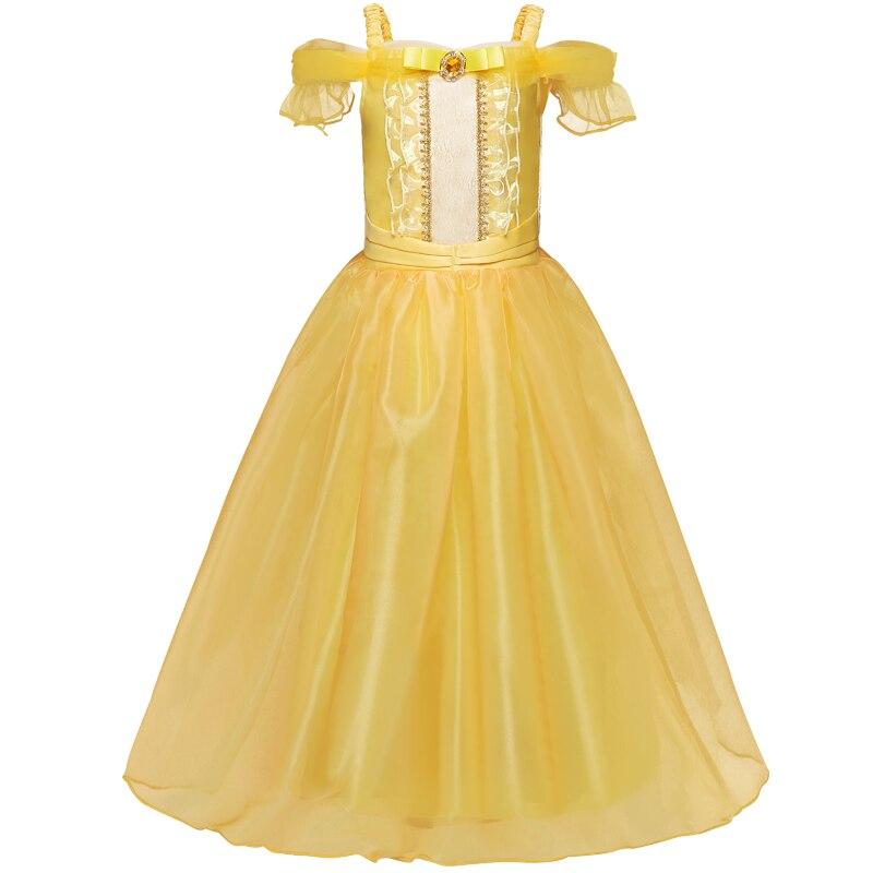 Girls Princess Dress Halloween Party Cosplay Costume Kids Children Robe 4