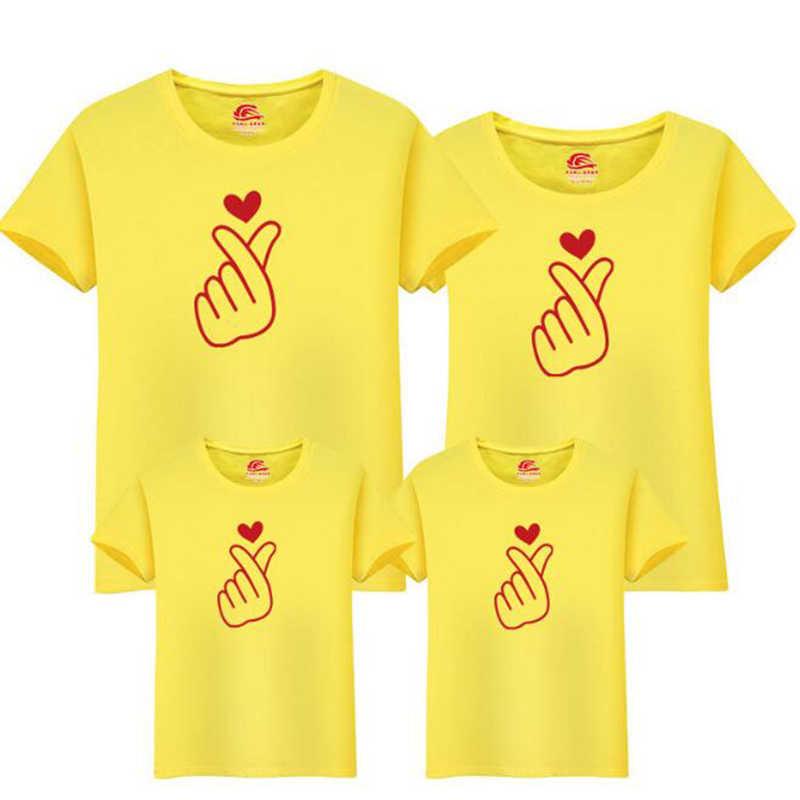 Di natale Amore Famiglia Corrispondenza Dei Vestiti Della Madre Figlia Vestiti Famiglia Sguardo T-Shirt Madre Figlio Abiti di Cotone Papà Figlio Vestiti