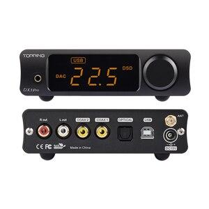 Image 5 - TOPPING DX3 Pro v2 LDAC HIFI USB DAC Bluetooth 5.0 wyjście słuchawkowe dekoder dźwięku XMOS XU208 AK4493 OPA1612 DAC DSD512 optyczny