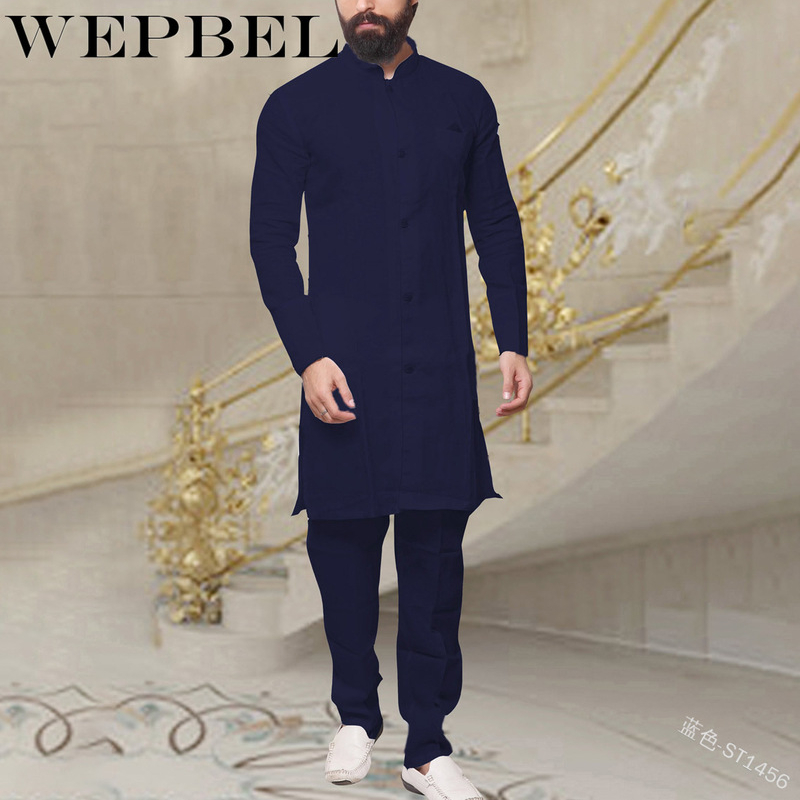 WEPBEL-Muslim-Fashion-Men-s-Kaftan-Robes-Vintage-Long-Sleeve-Linen-Button-Shirt-Islamic-Abaya-Clothing