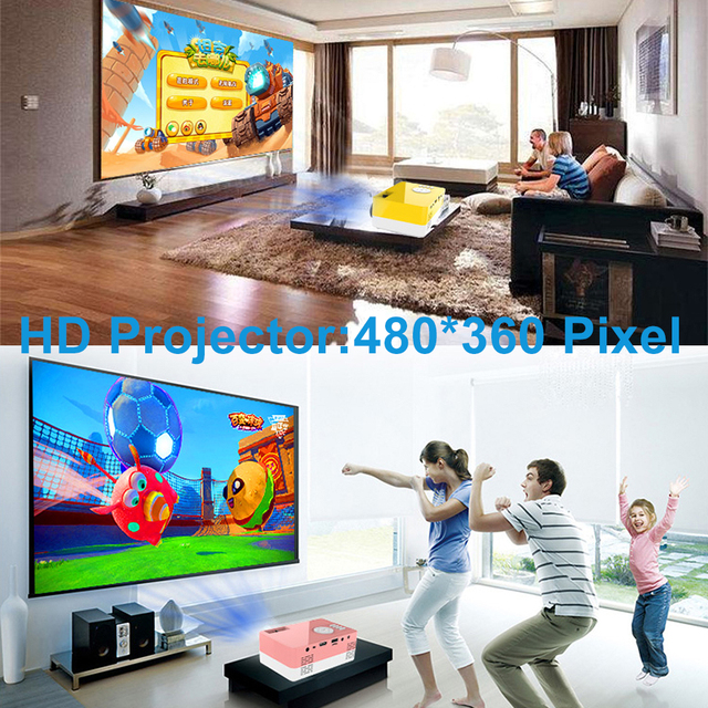 Salange J15 Pro Led Mini Projector for Home Theater 480x360 Pixels 1080P Supported HDMI-Compatible USB Audio Video Mini Beamer 5