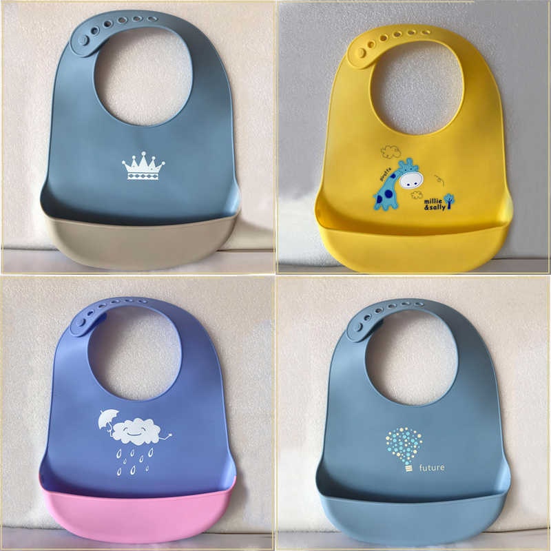 34 Warna Adjustable Bayi Lap Tahan Air Silikon Bayi Handuk Air Liur Newborn Kartun Tahan Air Celemek Bayi Oto