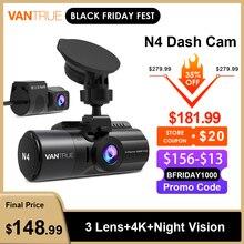 Vantrue N4 Dash Cam 4K voiture enregistreur vidéo 3 en 1 voiture DVR Dashcam vue arrière caméra avec GPS Vision nocturne infrarouge pour la taxe de camion