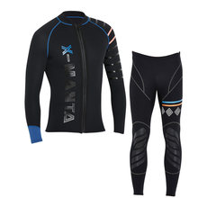 Dive&Sail men's 3mm diving wetsuit jackets pants long sleeve diving suit Scuba Jump Surfing Snorkeling Wetsuits Free shipping