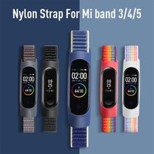 Bracelet Correa Mi-Band Xiaomi 5-Strap Loop-Watchband Smart-Watch Nylon for Belt Pulsera