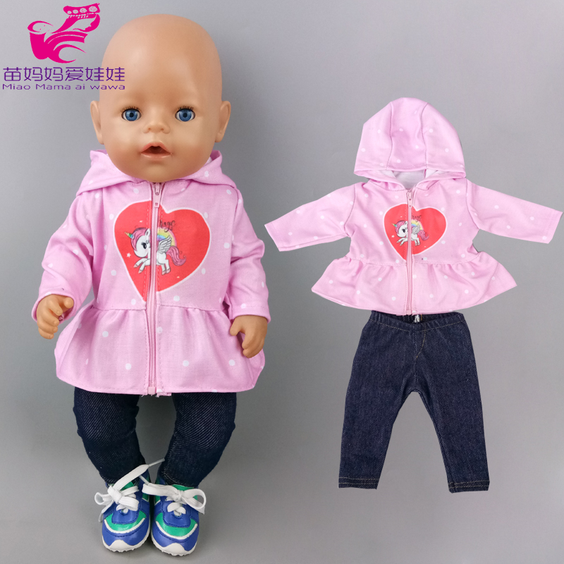 43 cm new born baby doll jacket 18 inch american og girl doll clothes coat