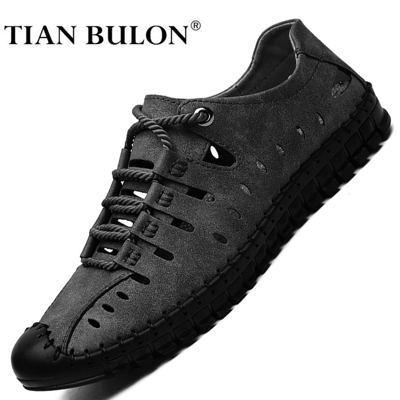 Men Casual Shoes Leather Fashion Men Sneakers Handmade Breathable Summer Man Shoes Lightweight Mens Loafers Moccasins Footwear