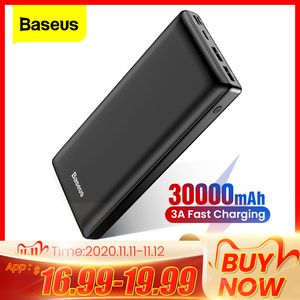 Baseus Power Bank 30000 mAh Portable Charging Poverbank Mobile Phone External Battery Charger Powerbank 30000 mAh for Xiaomi Mi
