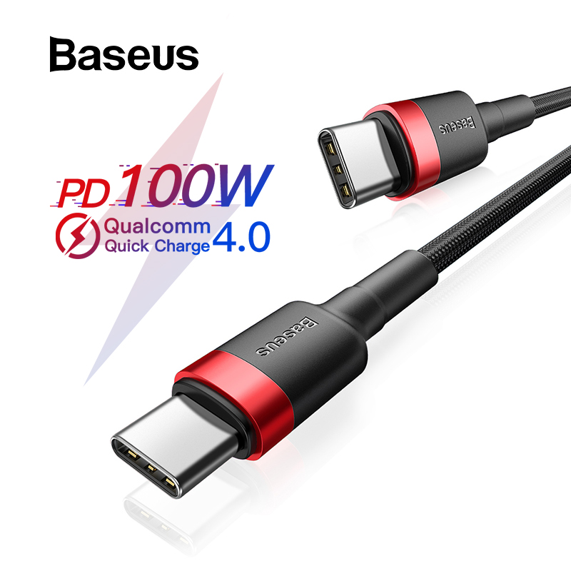 Baseus C-Cable Usb-Type Fast-Charging Macbook Note-8 Xiaomi Redmi Pd-100w for Note-8/Pro/Quick-charge/.. title=
