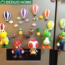 DEDUO Home Decor 3D 12cm Super Mario Magnetic Fridge Sticker DIY Magnet Cartoon Decoration