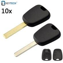 OkeyTech 10 teile/los Transponder Auto Auto Schlüssel Abdeckung Ersatz Fall für Peugeot für Citroen C2 Uncut HU83 Nut VA2 Blank klinge