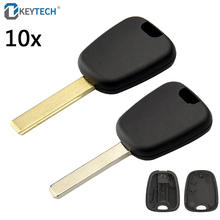 OkeyTech 10PCS/LOT Transponder Auto Car Key Cover Replacement Case for Peugeot for Citroen C2 Uncut HU83 Groove VA2 Blank Blade