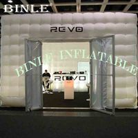 Conventional Giant Inflatable Kiosk booth,Square cube Tents with led lights event party marquee for Exhibitions and trade fairs