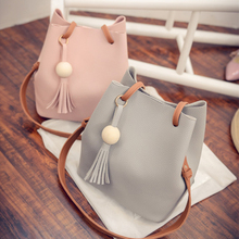 Handbag Solid Cross-Body-Bag Tassel Messenger Females High-Capacity Women