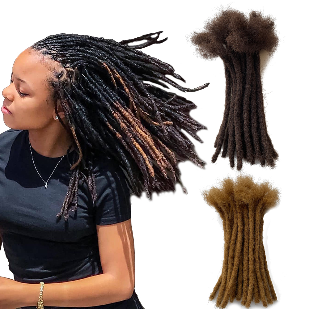 YONNA 100% Human Hair Small Size (0.4cm Width) Dreadlocks Extensions Full Handmade SOLD 60locs IN A BUNDLE #4 And #27