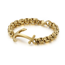 New fashion simple retro vintage anchor bracelet personality men's 316 stainless steel jewelry