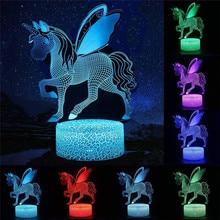 Unicorn series 3D LED Night Light  LED Table Desk Lamp Kids Christmas Night Lights Gift Home Decor
