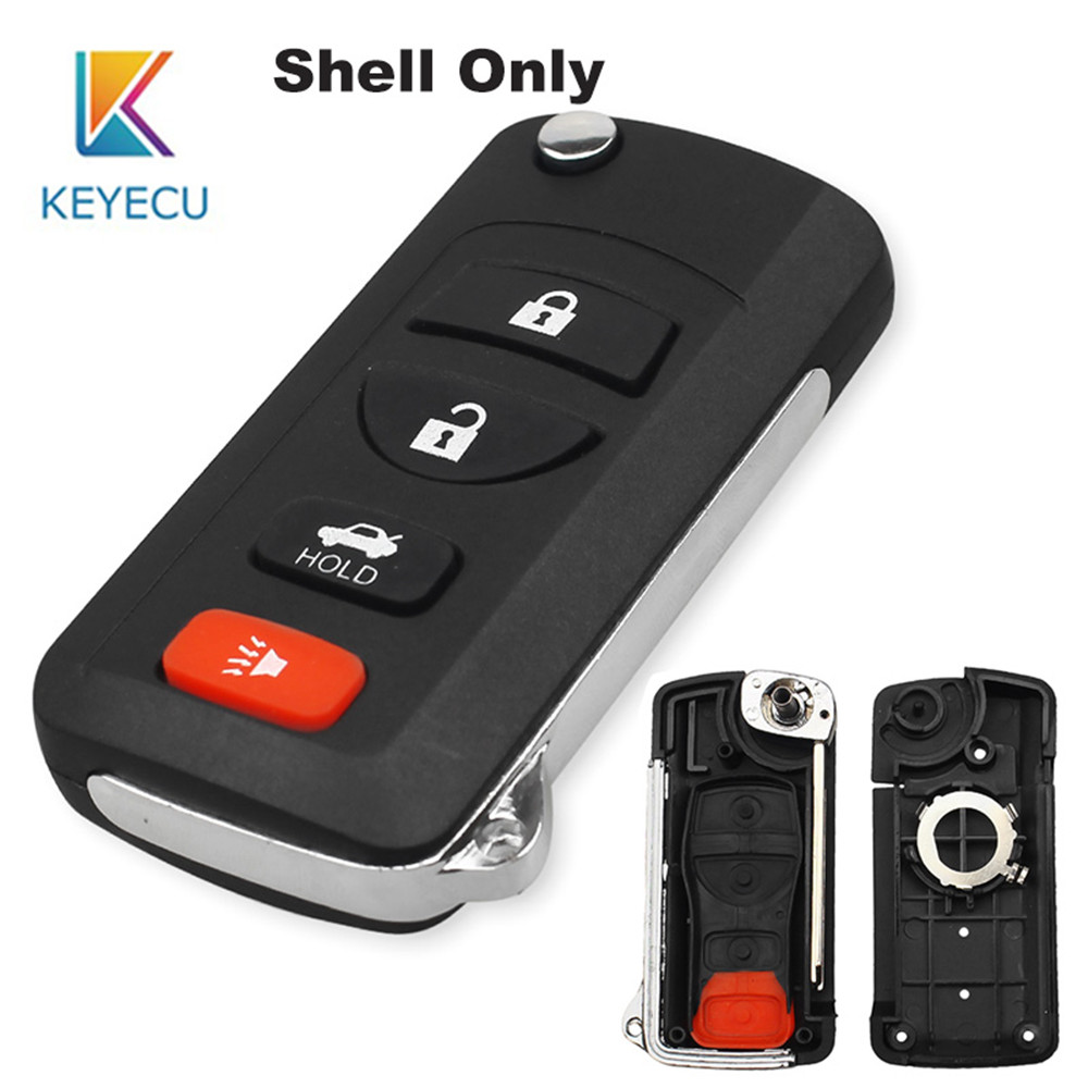 Remote Key Case Fob 3+1 Button for Benz C230 C240 C320 CL600 Battery Holder key