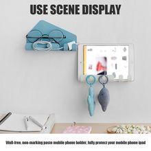 Phone-Holder Tablet-Stand Durable Hook Storage-Rack Multifunctional-Stand for Wall-Shelf