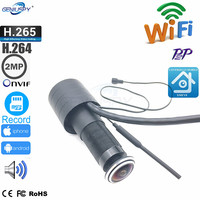 XMEYE Video Audio 1080P HD H.265 P2P 2.1mm FishEye Lens CCTV Security Peephole Door Eye Wifi Door Peephole Camera TF Card Slot