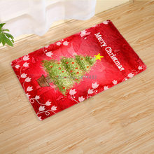 New Nordic Style Christmas Living Room Floor Mats Fashion Kitchen Bedroom Bathroom Non-slip Suede Carpet(China)