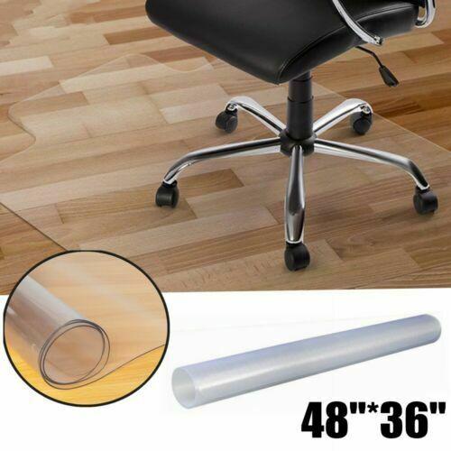Home Pvc Matte Office Chair Floor Mat Protect Wood Floor 48 X 36
