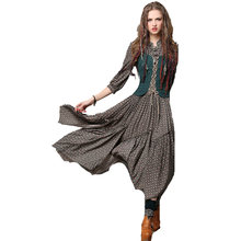 Vintage style fake two pieces vest embroidery shivering printing