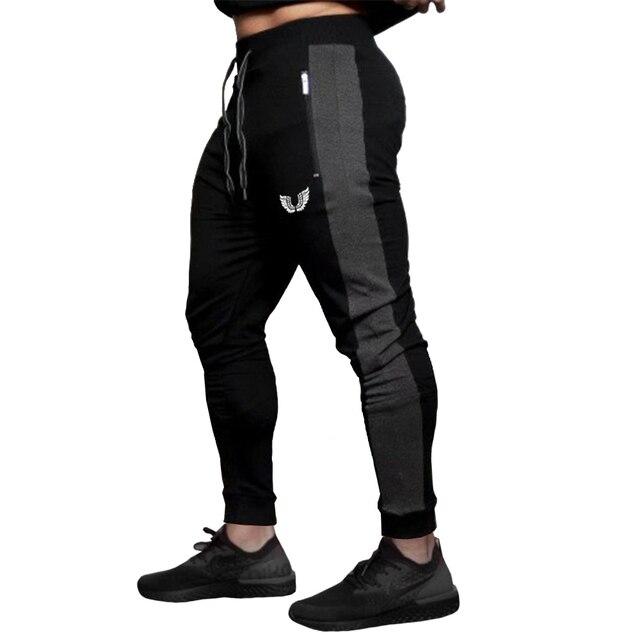 2019 Fashion Men Side Seam Side seam stitching Skinny Sportswear Sweatpants Male Casual Leggings Trousers Joggers Pants Men 1