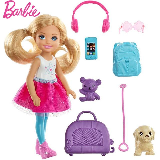 Original Barbie Dolls Brand Travel Girl with Puppy Assortment Fashionista Doll Toys for Children Birthday Gift Reborn Bonecas 1