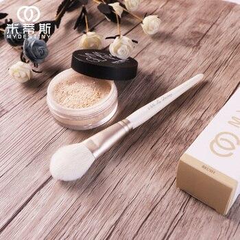 MyDestiny cosmetic brush-The Snow White series-peach&heart shape powder blush brush-soft goat hair makeup pen-beauty tool 1
